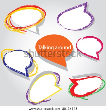 abstract talking bubble - stock vector