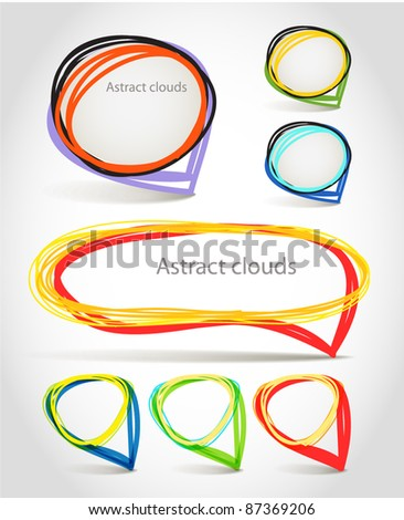 Abstract talking vector hand-made bubbles - stock vector