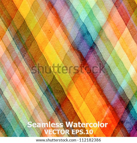 Abstract tartan watercolor ; EPS.10 vector  : original jpeg image ID: 108899303 - stock vector