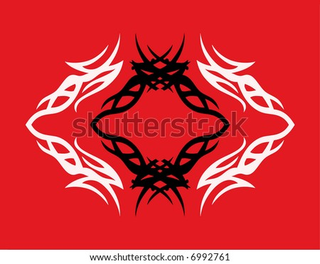 abstract tattoo element for design (vector format)