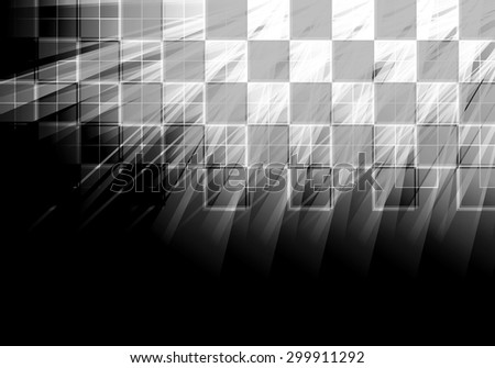 Abstract tech background. Futuristic interface. Vector illustration with many geometric shape. - stock vector