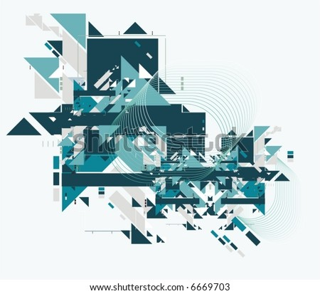 abstract tech background,vector illustration - stock vector