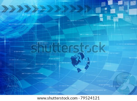 abstract tech design - stock vector