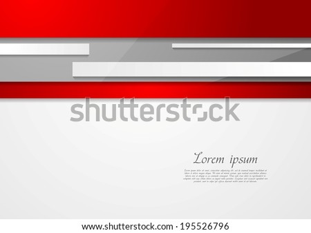 Abstract tech red and grey vector design - stock vector