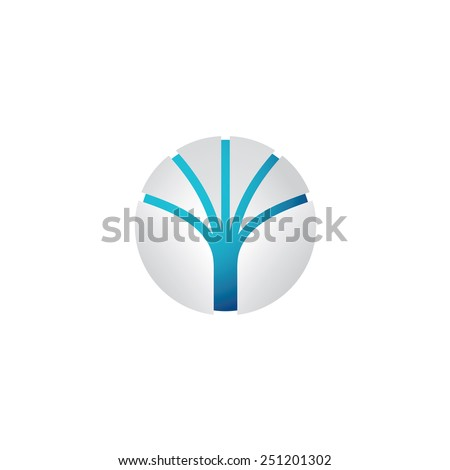 Abstract tech sphere logo template - stock vector