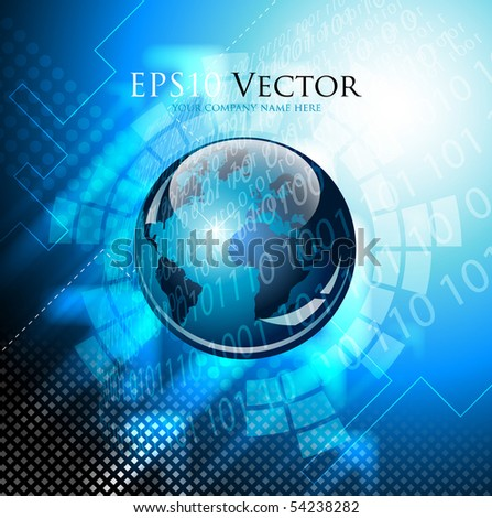 Abstract technical background - vector illustration - stock vector