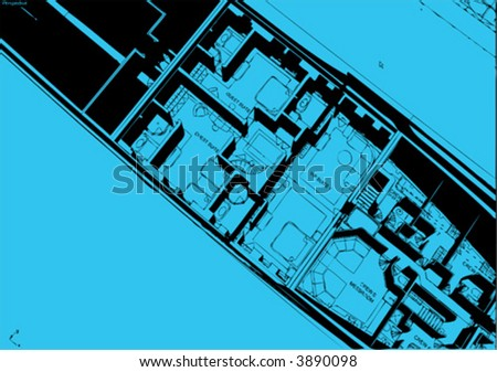abstract technical drawing - stock vector