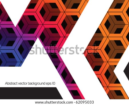 Abstract techno background.Stock vector. - stock vector