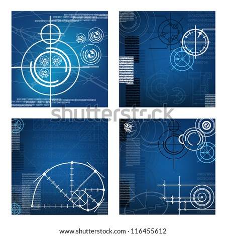 abstract techno background. vector. EPS10 - stock vector