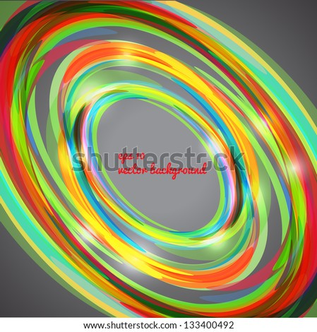 Abstract techno circle background. Can be used for tech-design, as background for business presentation, web and postcards. - stock vector