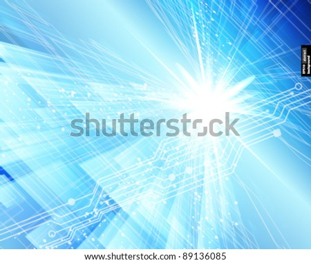 Abstract techno lines vector background. Eps 10 - stock vector