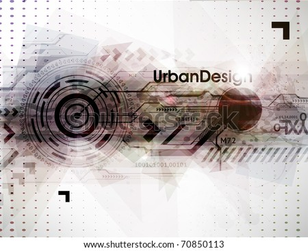Abstract Techno Vector Background - stock vector