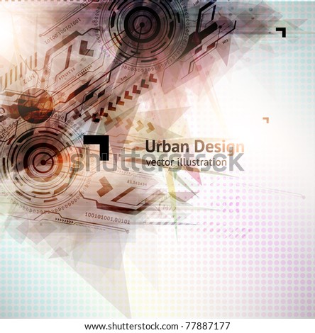 Abstract Techno Vector Background for business design. Eps 10.