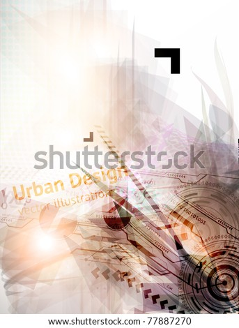 Abstract Techno Vector Background for business design. Eps 10. - stock vector