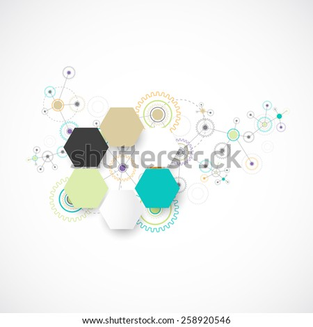 Abstract technological background. Vector