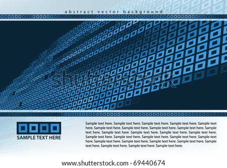 Abstract technological background with the marked cells. Vector - stock vector