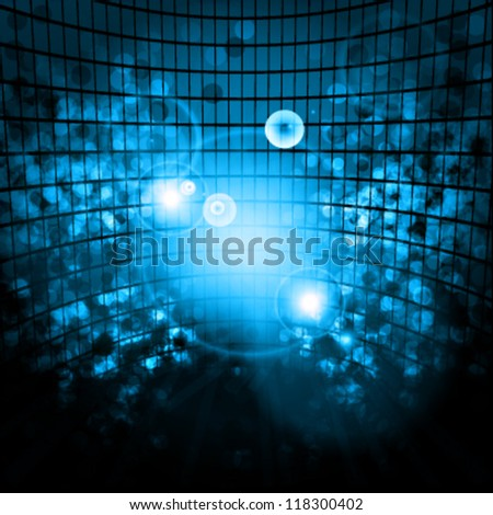 Abstract technological blue background made with different shines and light effects