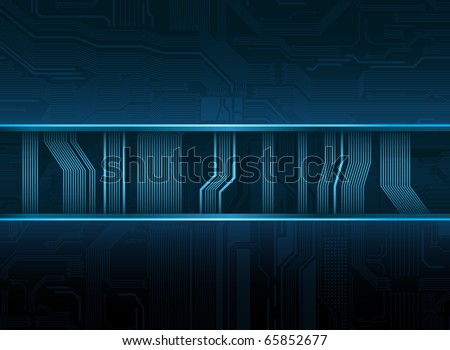 Abstract technological style vector banner. Vector contains transparency effect. - stock vector