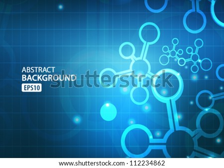 Abstract technology background. Beautiful colors. - stock vector