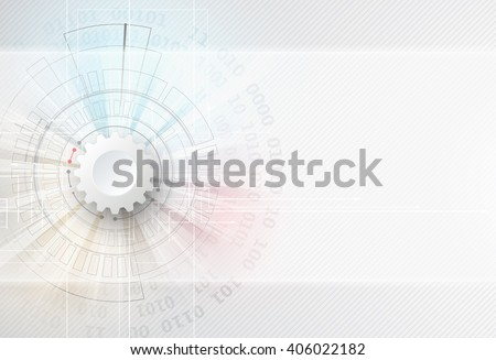 Abstract technology background. Futuristic interface. Vector illustration with many geometric shape.