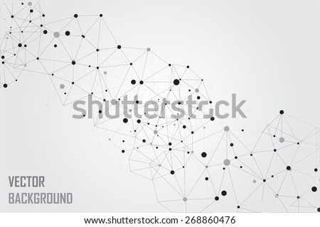 Abstract  technology background.Geometric wireframe background.Polygonal vector background. - stock vector