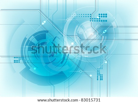abstract technology background in blue - stock vector