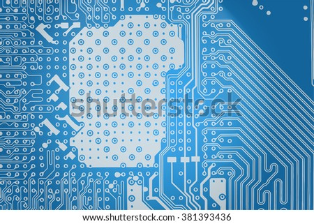 Abstract technology background motherboard. Modern vector background - part of the printed circuit board with paths. For banners, posters, covers and web-design.