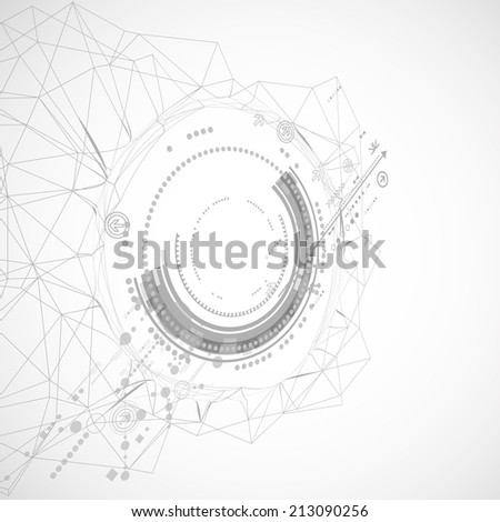 Abstract technology background/ Network concept - stock vector