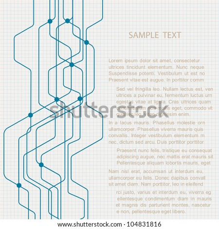 Abstract technology background. Vector eps10 - stock vector