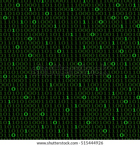 Abstract technology background with binary computer code, vector illustration eps 10