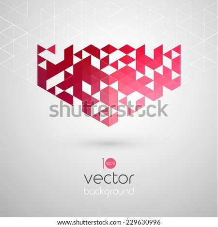 Abstract technology background with color triangle. Vector illustration. - stock vector