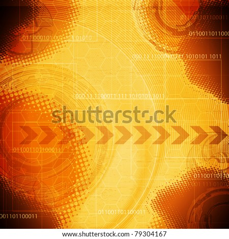 abstract  technology background with place for text - stock vector