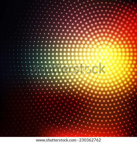 abstract technology background with the red and green gradient - stock vector