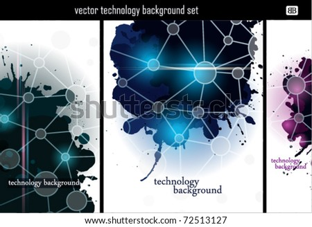 Abstract Technology Backgrounds. - stock vector