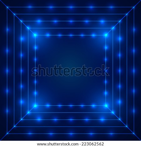 Abstract technology blue background with space for your text. Vector illustration for your artwork.  - stock vector