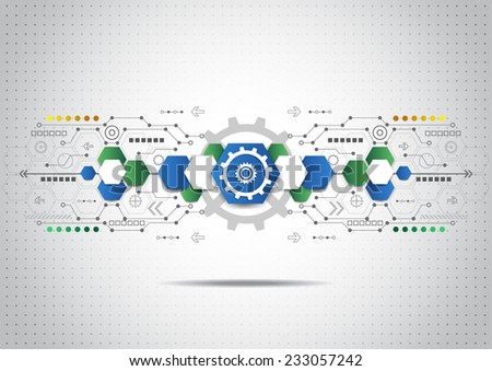 Abstract technology business background, vector illustration