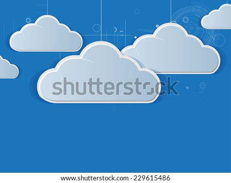 Abstract technology business concept with cloud. Modern background