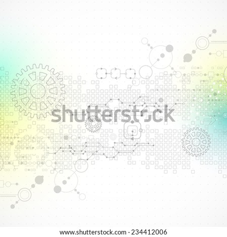 Abstract technology business template background. Vector