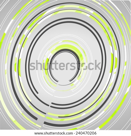 Abstract technology circles background dynamic illustration. - stock vector