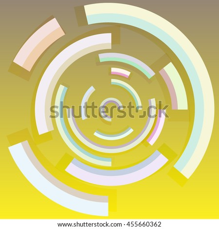 Abstract technology circles vector background. Eps10. Vector digital technology concept. Trendy and stylish design .Good for Technology Businesses - stock vector