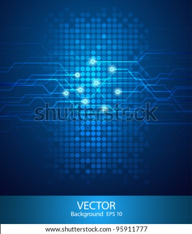 Abstract Technology circuit background vector illustration - stock vector