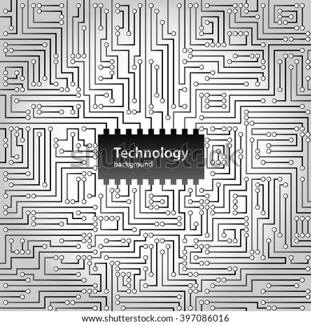 Abstract technology circuit board background, vector illustration