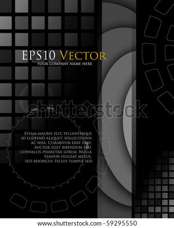 Abstract technology composition - vector illustration - stock vector