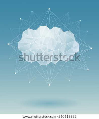 Abstract technology geometric  background - stock vector