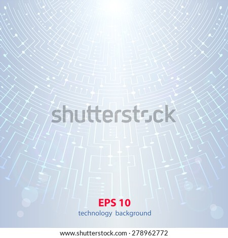 abstract technology hi-tech background - stock vector