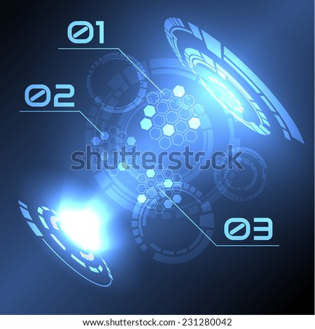 Abstract technology hud background. Vector eps10.  - stock vector