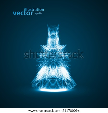 Abstract technology illustration, stylish concept, futuristic vector eps10 - stock vector