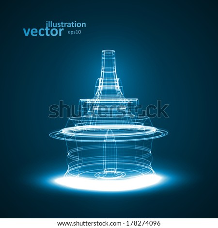 Abstract technology illustration, vector stylish concept eps10 - stock vector