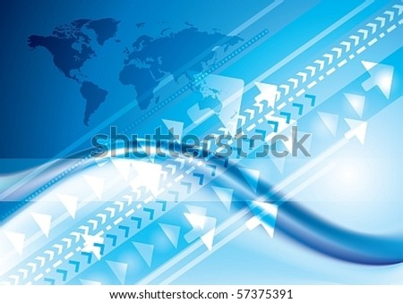 Abstract Technology internet connection concept, eps10 vector background - stock vector