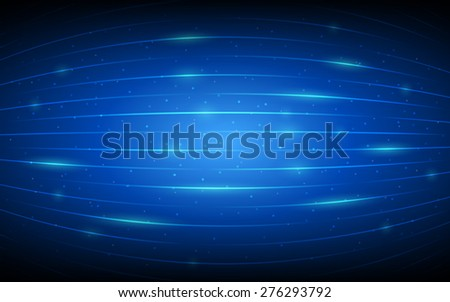 abstract technology lines pattern and glitter on dark blue background (vector)